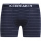Icebreaker M's Anatomica Boxers midnight navy/gritstone hthr/stripe